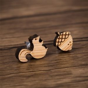 Urban Outfitters Vintage Squirrel & Acorn Earrings